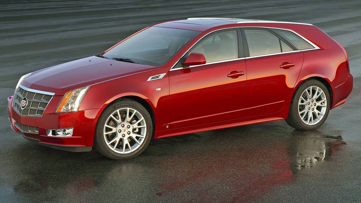 The dramatically-designed 2010 Cadillac CTS Sport Wagon makes its European premiere at Paris, followed by production launch in spring of 2009. X10CA_CT012