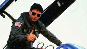 Tom Cruise in 1986 film Top Gun.