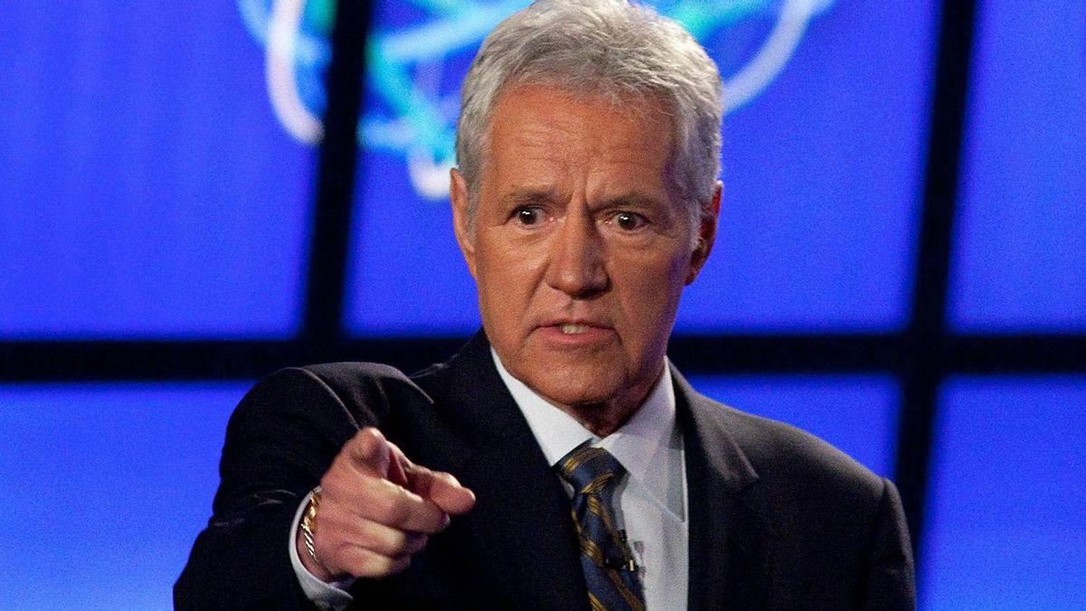 """Host of """"Jeopardy!"""" Alex Trebek."""