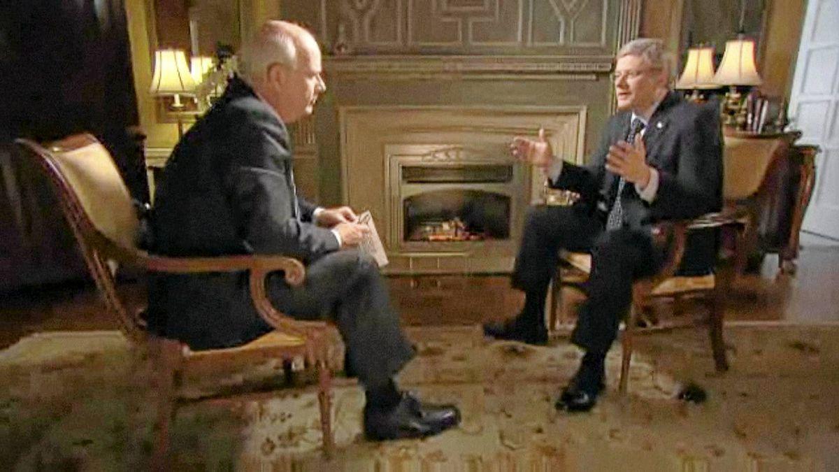 Peter Mansbridge interviews Stephen Harper. Part 1 aired Jan. 17, 2011.