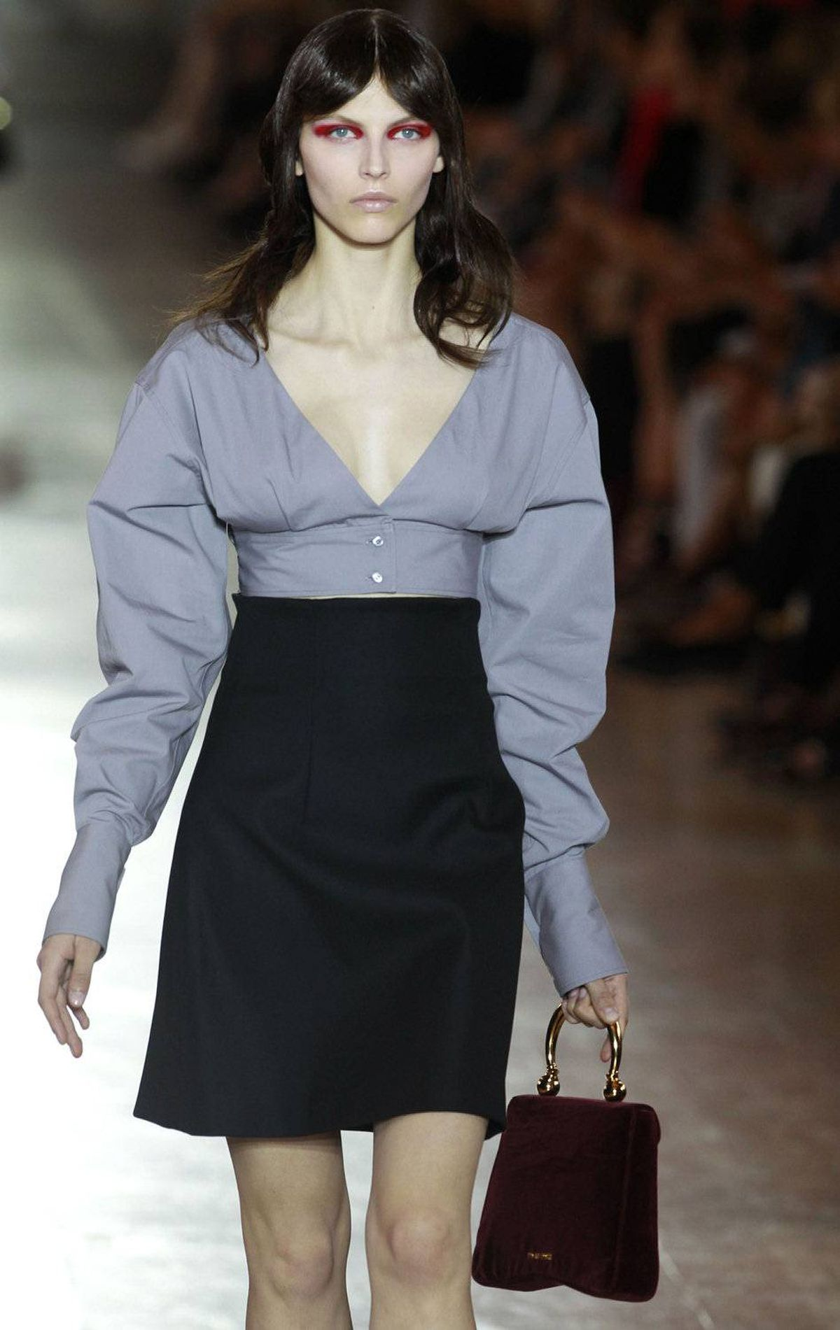 A model presents a creation by designer Miuccia Prada for Italian fashion house Miu Miu as part of its spring/summer 2012 women's ready-to-wear fashion show in Paris, October 5, 2011.