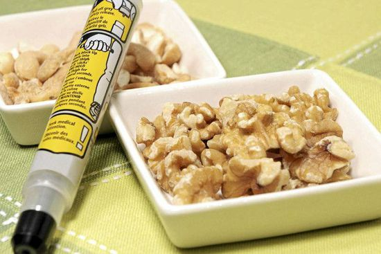 Researchers found that peanut and nut allergies were much more common in kids than adults.