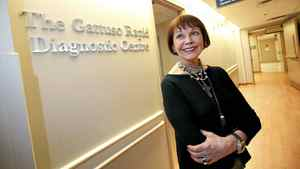 Emmanuelle Gattuso and husband Allan Slaight donated $13.9-million for a rapid dianostic centre at the Princess Margaret Hospital in Toronto.