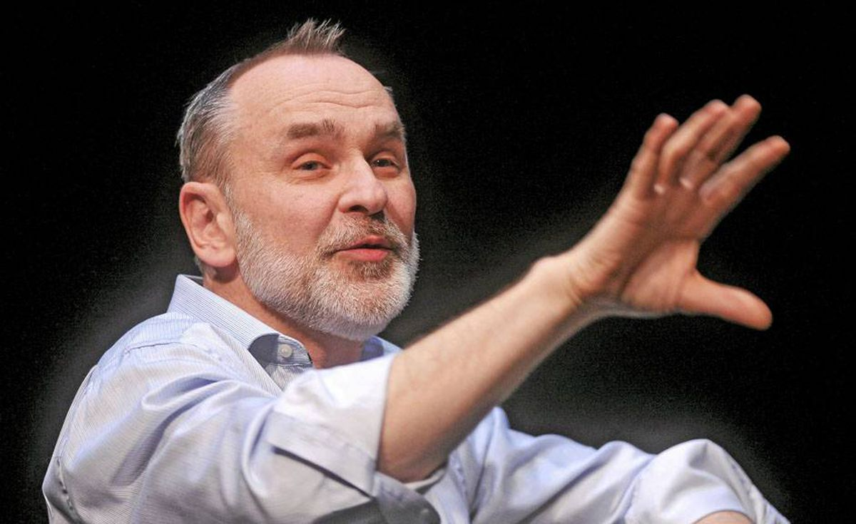 Daniel MacIvor takes part in a round-table discussion with James Bradshaw in Toronto, Feb. 25, 2010.