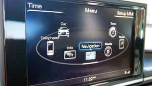 Audi in-car info-tainment system