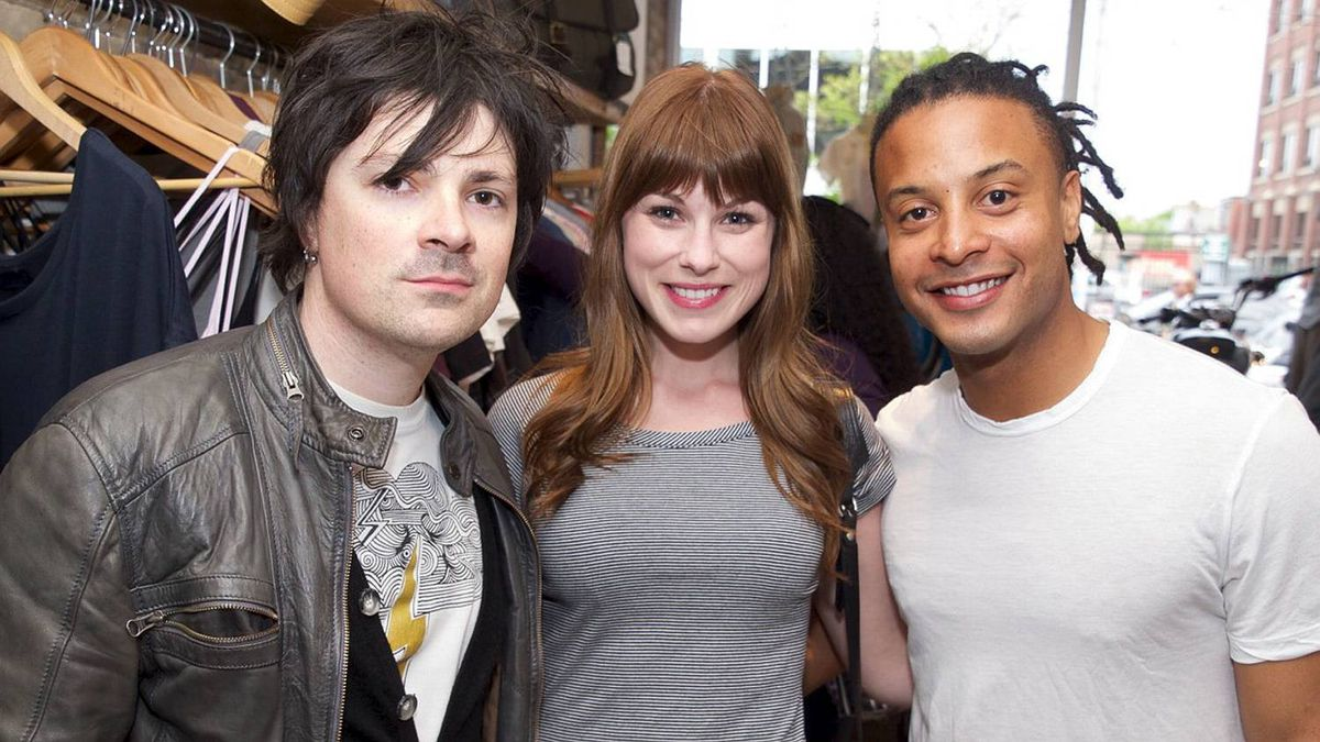 Joe MacLeod, Meghan Heffern and Brandon Jay McLaren at the Motoretta event