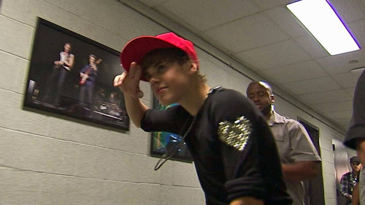 """Justin Bieber in a scene from """"Never Say Never"""""""