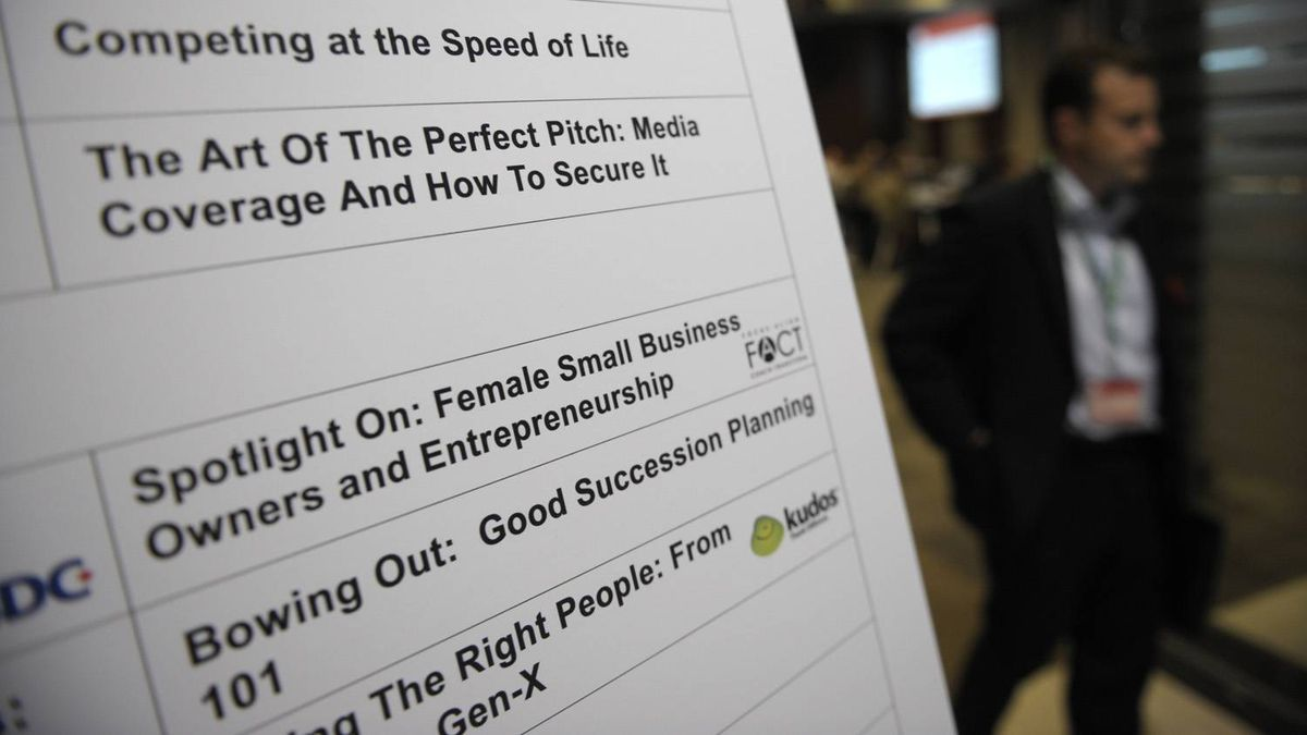Program schedule for the Small Business Summit held at the MaRS Discovery District in Toronto on Nov. 8, 2011.