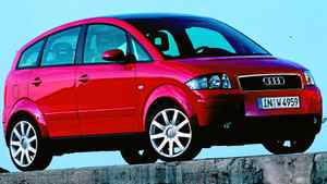 The Audi A2, built from 1999 to 2005, was only sold in Europe.