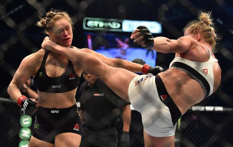 Ronda Rousey knocked out by Holly Holm in UFC championship fight