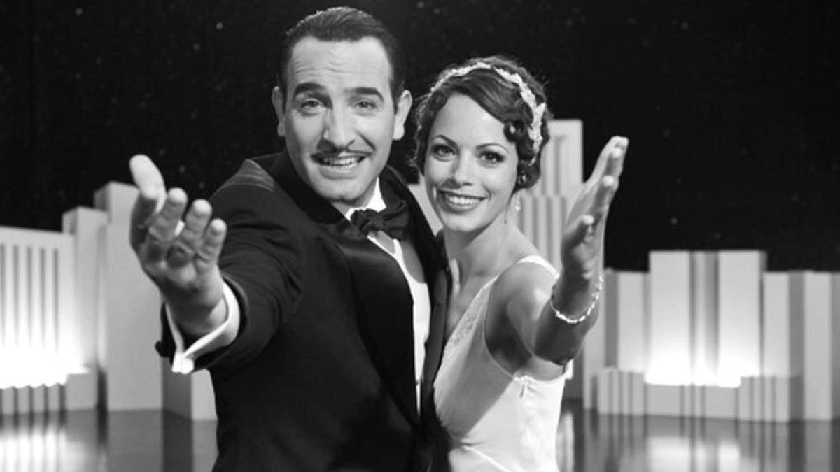 "Bérénice Bejo (right) and Jean Dujardin in ""The Artist"""