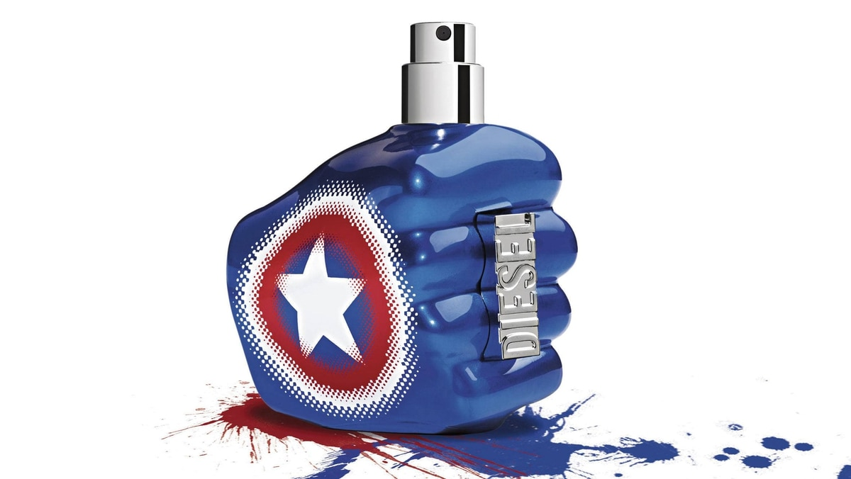 Diesel's Captain America-themed Only the Brave men's cologne