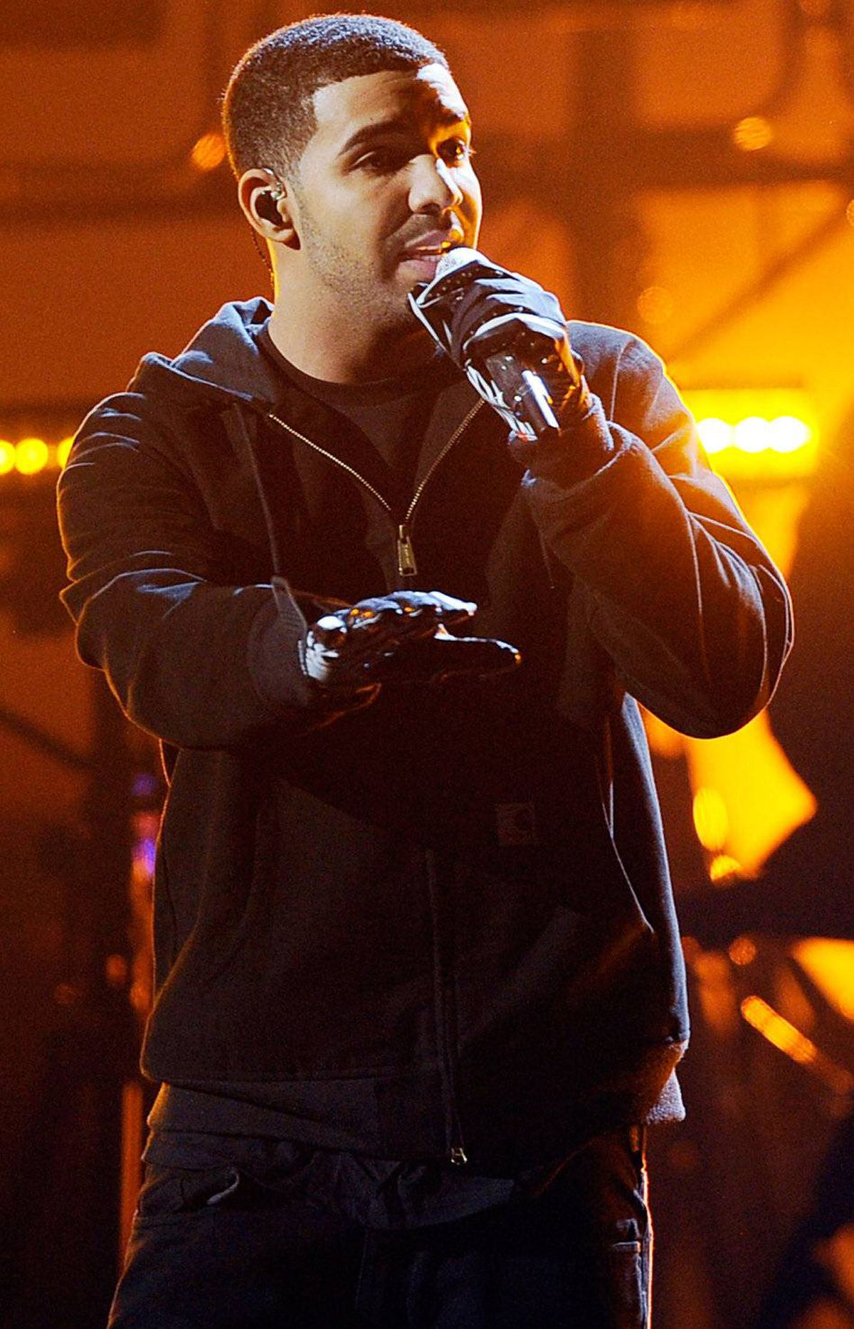 Rapper Drake performs onstage at the 2011 American Music Awards held at Nokia Theatre L.A. LIVE on November 20, 2011 in Los Angeles, California.