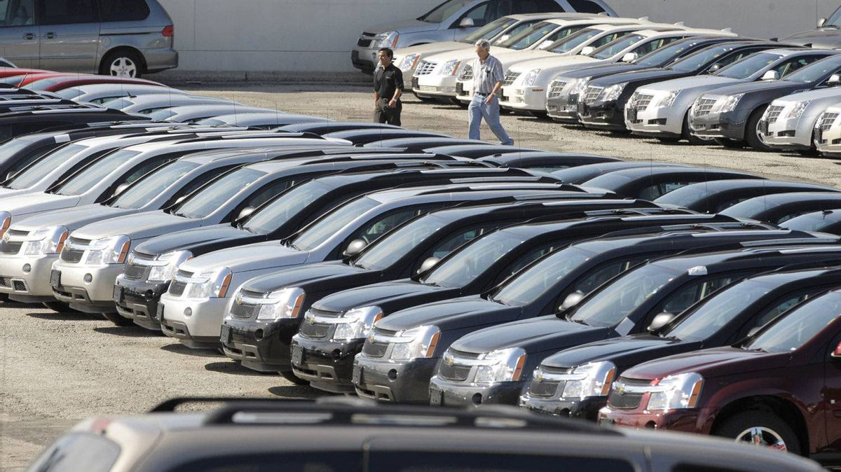 File photo of an auto dealership.