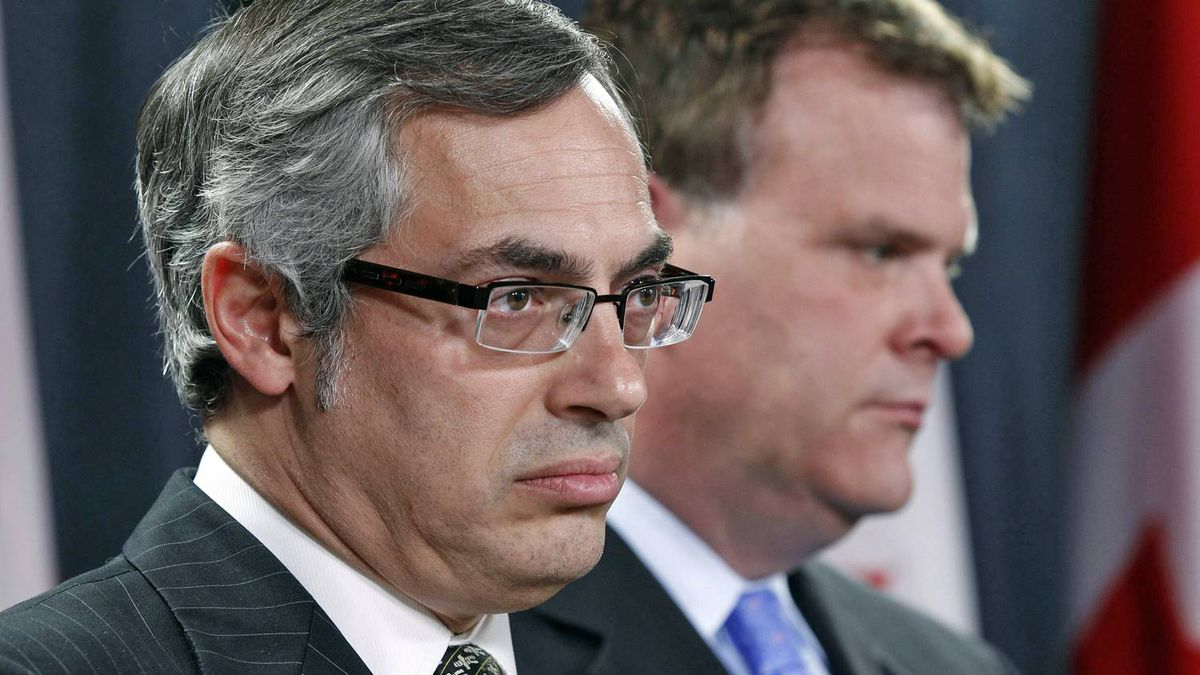 Treasury Board President Tony Clement and Minister of Foreign Affairs John Baird respond to the Auditor-General's report into G8 spending at an Ottawa news conference on June 9, 2011.