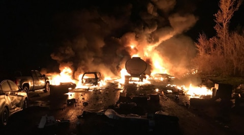 Major Crash on Canada Highway Triggers 'Massive Fireballs'