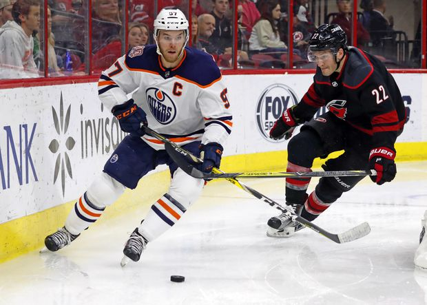 Niederreiter's two goals lead Hurricanes past Oilers, 3-1
