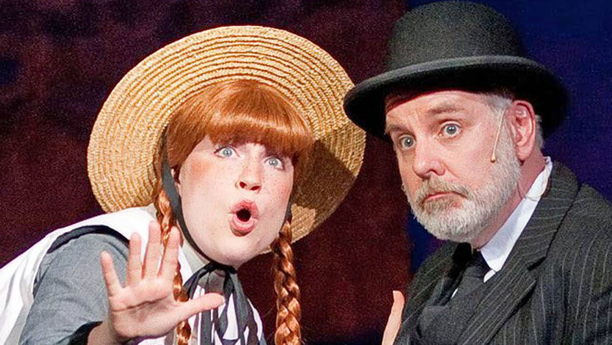 Tess Benger and Kristian Truelsen in the Charlottetown production of Anne of Green Gables.