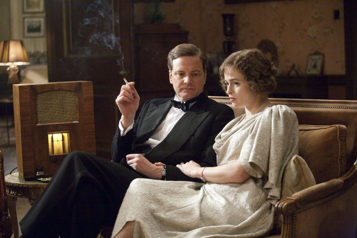 Colin Firth and Helena Bonham Carter star in The King's Speech.