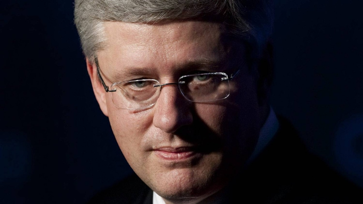 Canadian Prime Minister Stephen Harper speaks with media during a closing news conference at the G20 Summit in Cannes, Friday November 4, 2011.