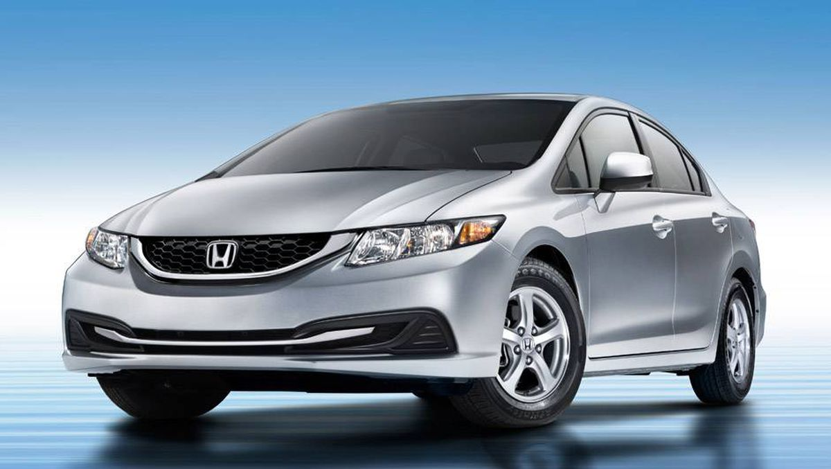 In pictures 2013 honda civic the globe and mail for Honda civic natural gas
