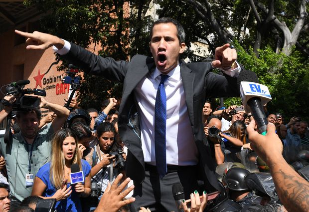 Venezuela's Juan Guaido enters congressional palace after standoff with security forces