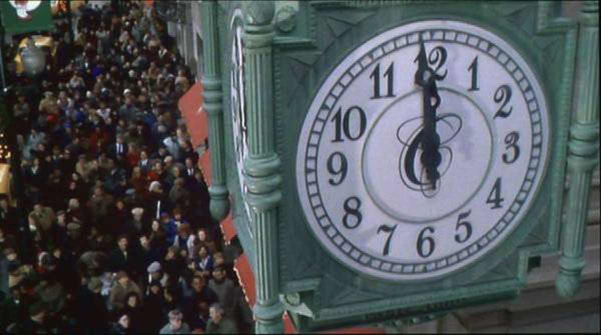 """Christian Marclay's 2010 video hit """"The Clock,"""" a 24-hour-long movie-montage that museum director Michael Govan called a """"virtual history"""" of film."""