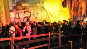 Patrons line up to get into the Asylum, one of six themed haunted house attractions that Screemers offers. About 25,000 visitors hit Screemers over its 13-night run in October, says general manager Andrew Gidaro. Tickets cost $28.50.