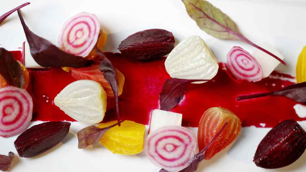 This beet salad might be a new vegetable dish on the menu at Boneta restaurant 1 West Cordova in downtown Vancouver, BC.