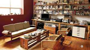 Choreographer Christopher House's living room