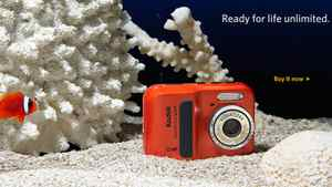 Screengrab from Kodak.com, advertising one of the cameras it will no longer produce. Buy it now indeed.