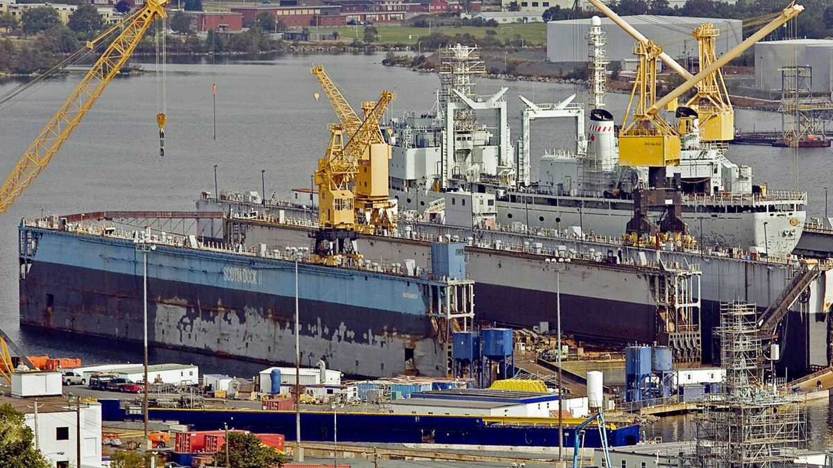 The Irving-owned Halifax Shipyard, showin in 2010, is one of three firms in the running for $35-billion in federal contracts.
