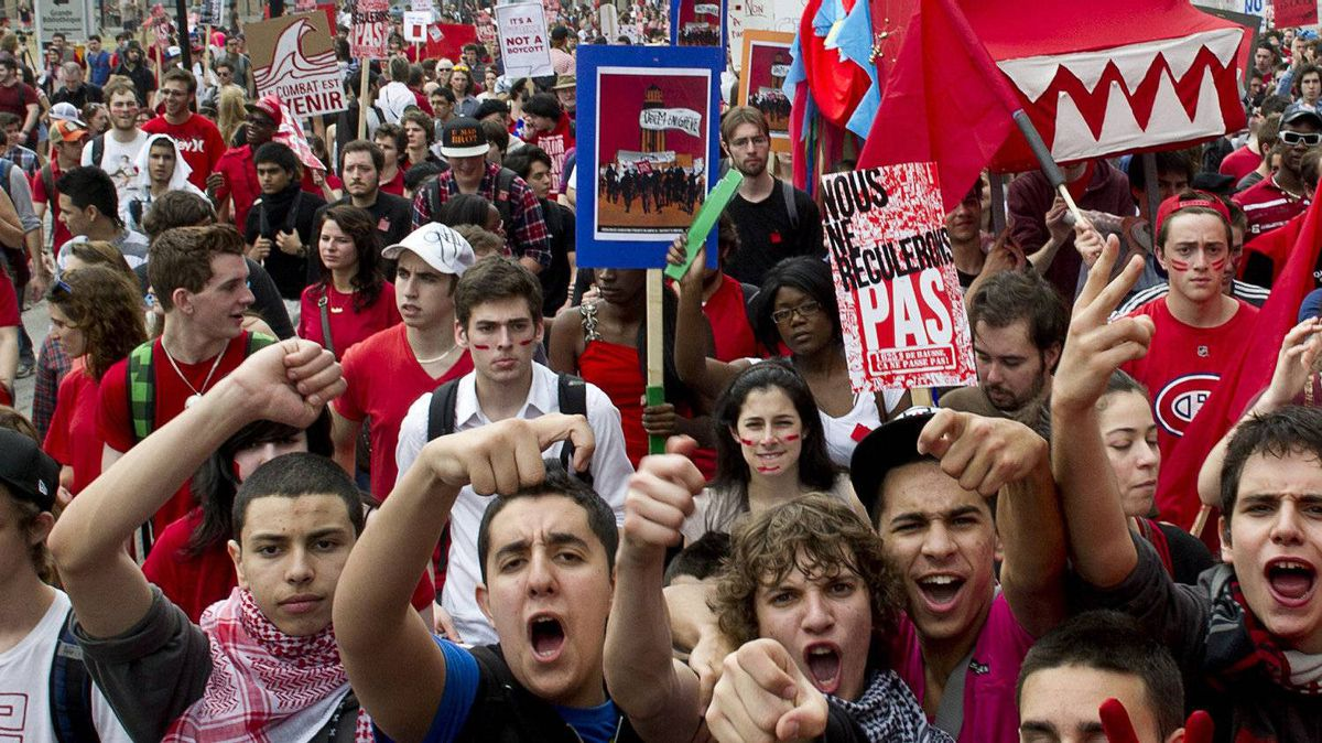 Quebec students have taken to the streets of Montreal to protest against planned tuition hikes.