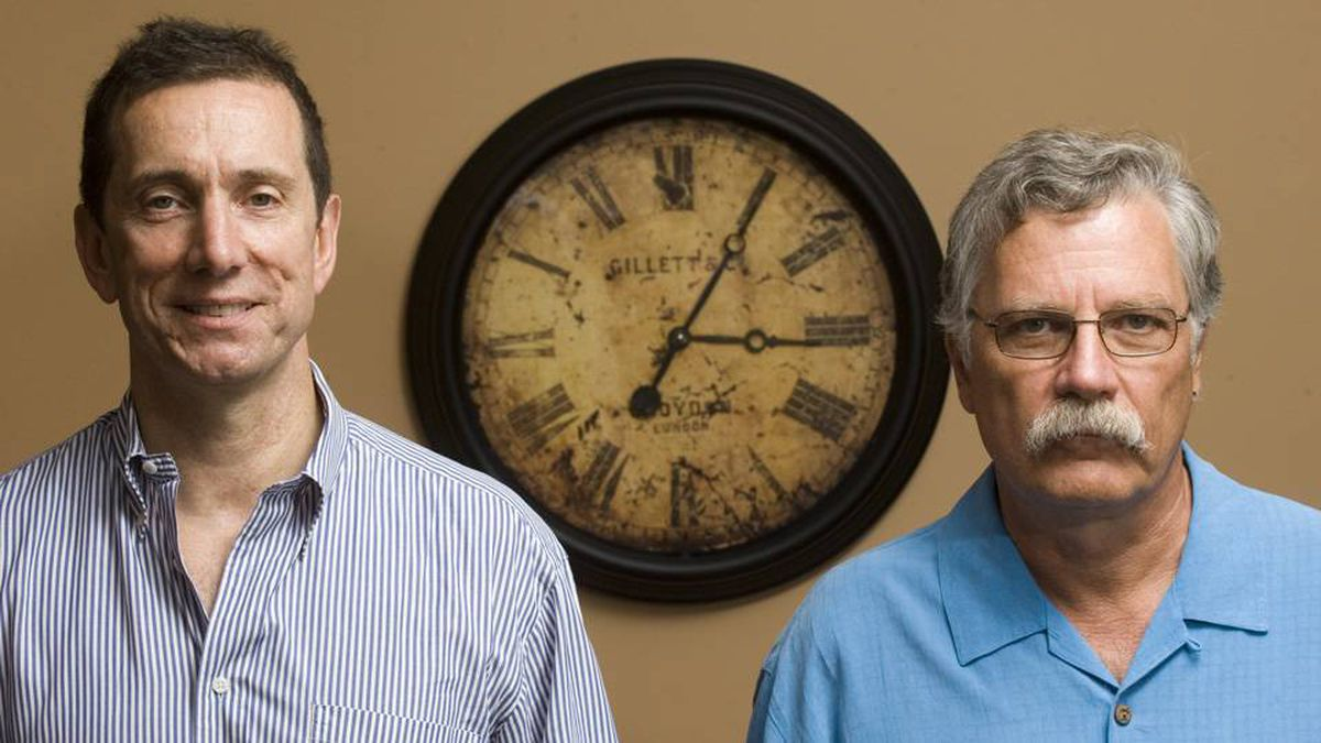 Loudon Owen, left, the chairman of i4i, and Michel Vulpe, the company's chief technology officer