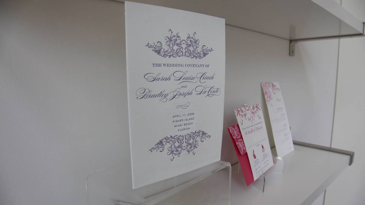 LUXE destination weddings is the exclusive distributor of Ceci New York wedding invitations