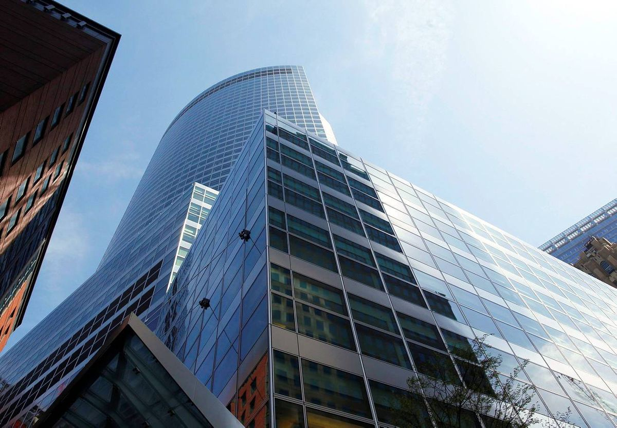 The new Goldman Sachs Group, Inc. headquarters is seen in New York's lower Manhattan