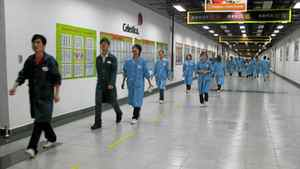 Staff at Celestica's high-tech electronics plant in Suzhou, China. ANDY HOFFMAN/THE GLOBE AND MAIL
