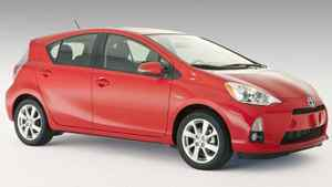 Toyota is billing the 2012 Prius c as the most fuel efficient car in Canada.