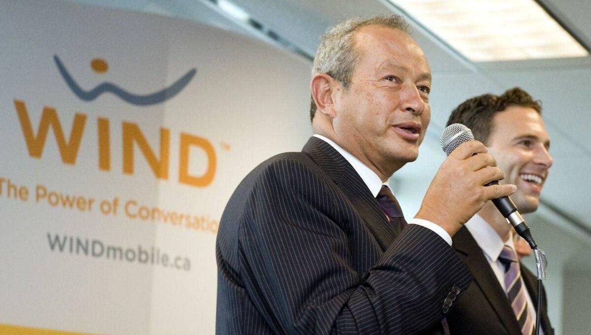 Naguib Sawiris, left, head of Orascom Telecom, with Anthony Lacavera, chairman of Wind Mobile