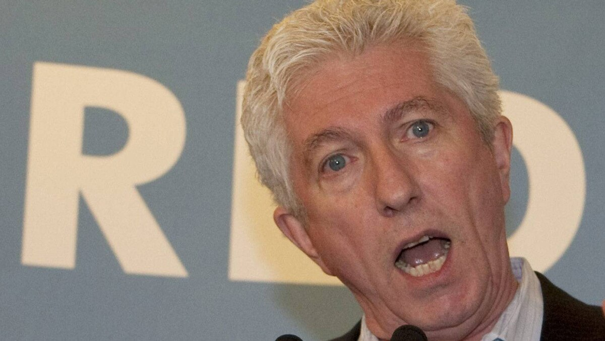 Bloc Quebecois Leader Gilles Duceppe speaks to party election workers as he visits his riding headquarters Sunday, May 1, 2011 in Montreal.