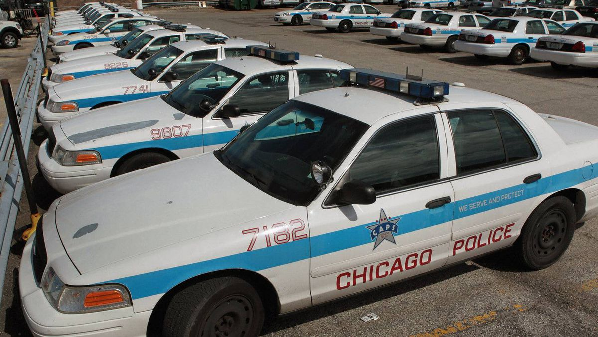 The Ford Crown Victoria serves as a fleet car for the Chicago Police Department.