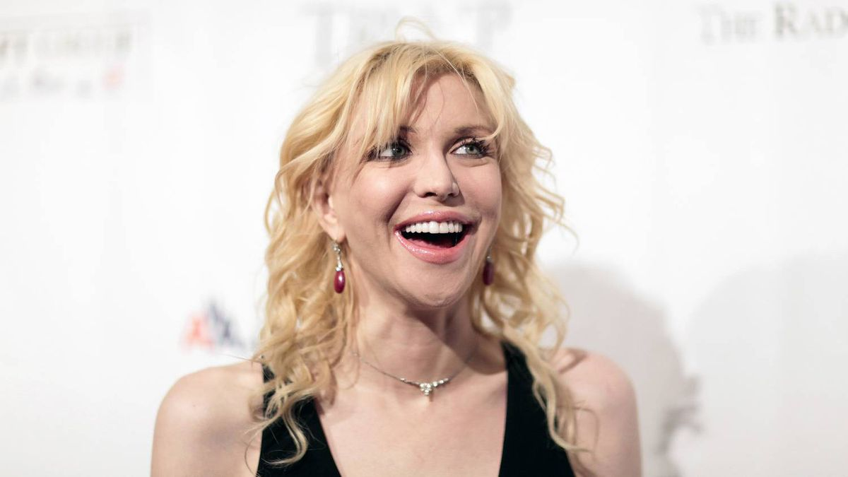 """Courtney Love (seen here at a benefit in 2009) has simple words for those who complain about her use of the name Hole: """"Suck it, suck it, suck it, suck it, weasels, because it's my band."""""""
