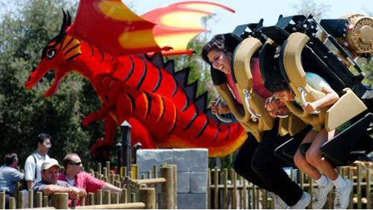 At Legoland California, I couldn't hold back screams of excitement while getting relentlessly jolted around on Knight's Tournament, a robot-arm attraction.
