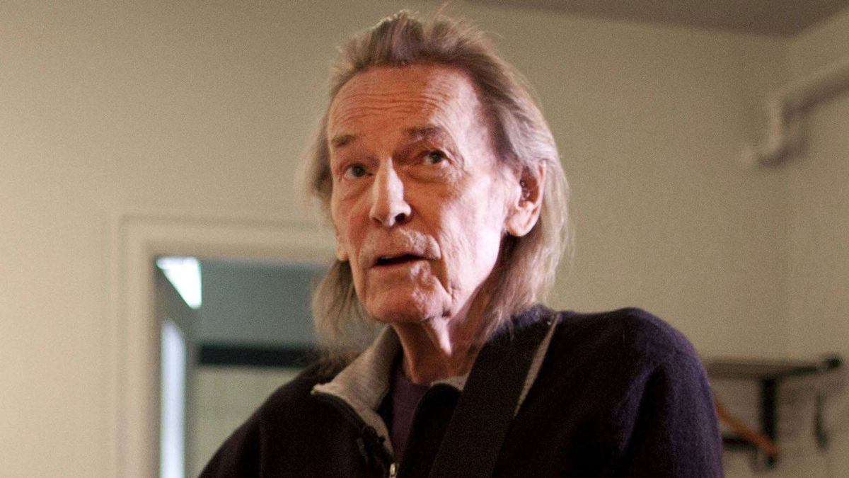 Legendary singer/songwriter Gordon Lightfoot hangs out backstage at Massey Hall in Toronto, Apr. 10, 2012.