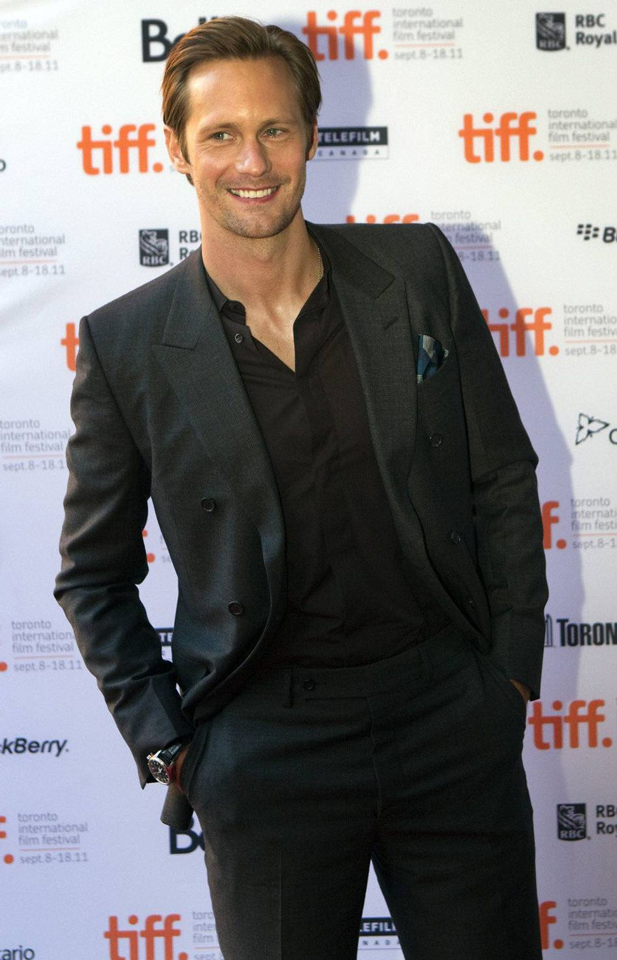Actor Alexander Skarsgard arrives at the gala premier of the movie Melancholia at the Ryerson Theatre at the 36th Toronto International Film Festival in Toronto September 10, 2011.