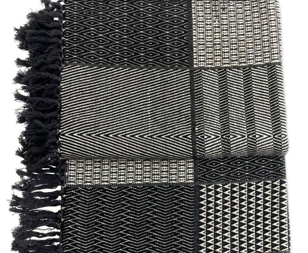 Throw design delights The hand-woven cotton City Wall Throw – designed by Suki Cheema, who once worked for Diane von Furstenberg – travels easily from beach villa to ski chalet and can also double as an airplane blanket. $298 (U.S.); dwr.com