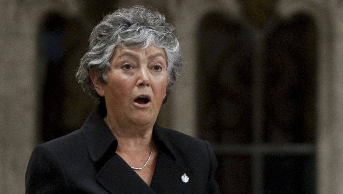 NDP MP Denise Savoie rises during Question Period in the House of Commons on Parliament Hill in Ottawa.