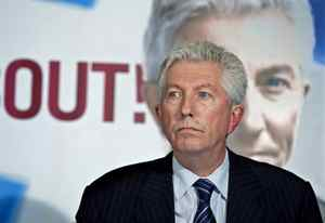 Bloc Quebecois Leader Gilles Duceppe holds a news conference in Bois-des-Filions, Que., on Sept. 2, 2009.