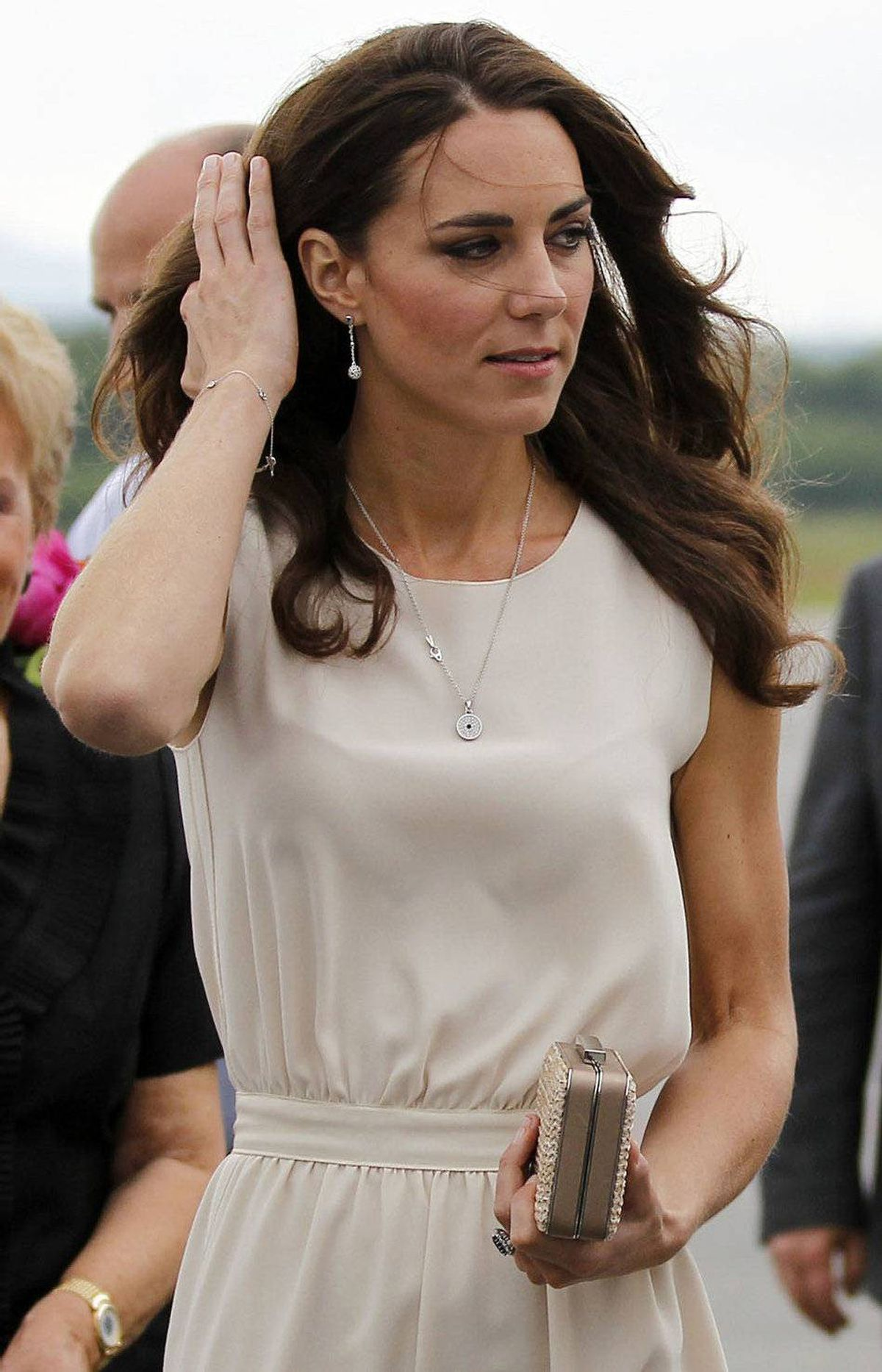 Catherine, Duchess of Cambridge, prepares to depart Jean Lesage International Airport in Quebec City July 3, 2011.