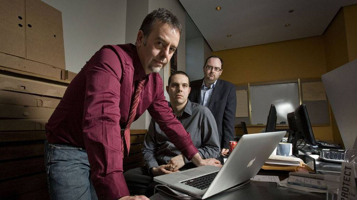 Ronald J. Deibert, Nart Villeneuve and Greg Walton discovered the spying operation they dubbed GhostNet. They are seen at the Munk Centre on March 29 2009.